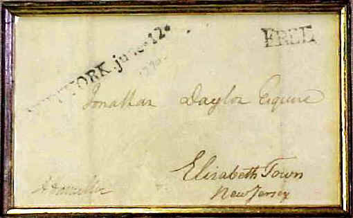 "Free franked envelope signed ""Alexander Hamilton.""  - Stan Klos Collection"