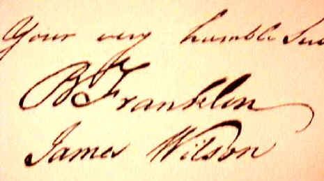 declaration of independence signatures. James#39; signature on the