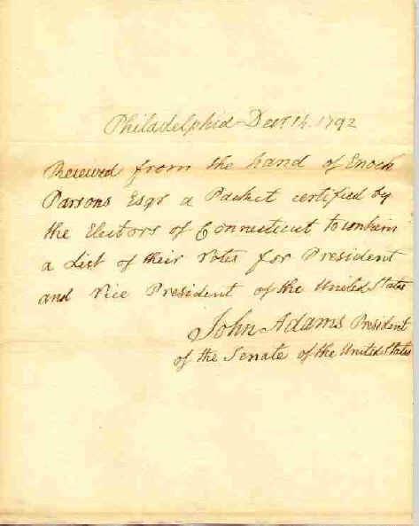 John Adams Letter - © Stan Klos Collection