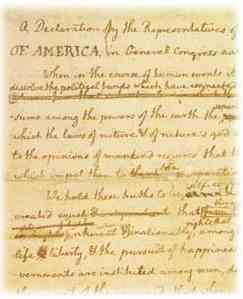 Martha Jefferson Draft of Declaration of Independence