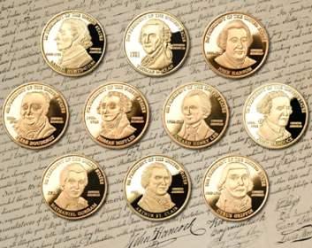 Medallions of U.S. Presidents Hancock, Huntington, St.Clair -