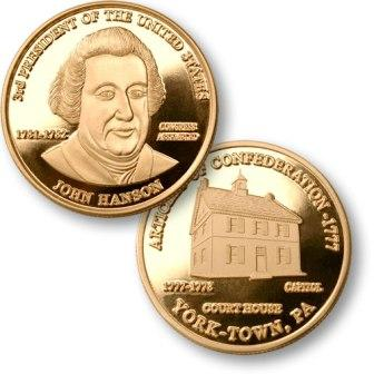 President John Hanson Proposed Presidential $1 Coin with US Capitol York Court House