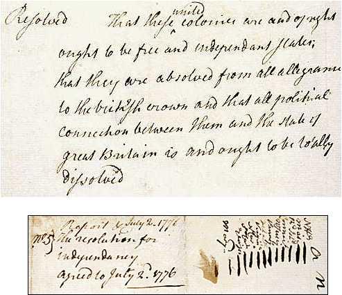 Richard Henry Lee's Resolution