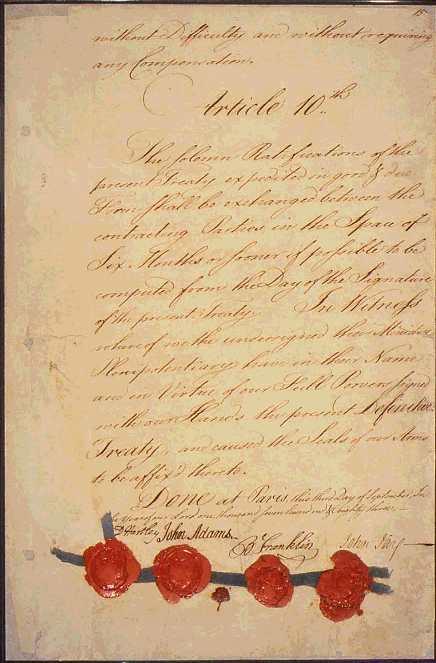 1783 Treaty of Paris - John Adams, John Jay and Benjamin Franklin