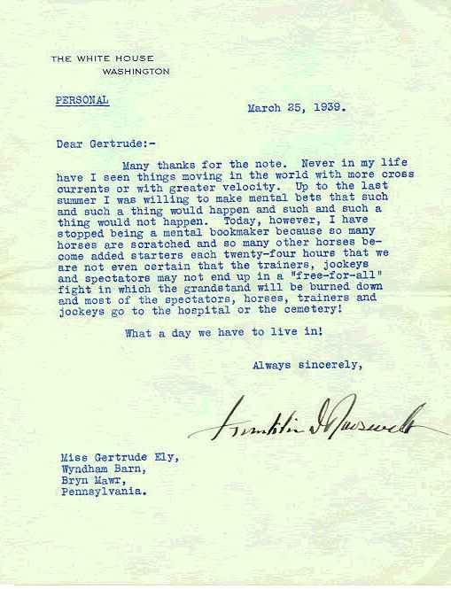 Franklin D. Roosevelt Letter - Exceptional Content - Virtualology.com